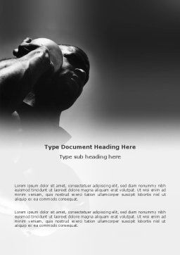 Pusher Word Template, Cover Page, 03107, Sports — PoweredTemplate.com