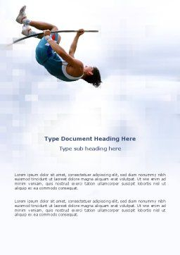 Jumping Word Template, Cover Page, 03108, Sports — PoweredTemplate.com