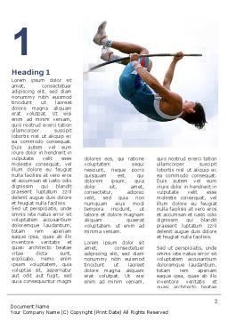 Jumping Word Template, First Inner Page, 03108, Sports — PoweredTemplate.com