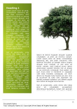 Green Tree On Light Olive Background Word Template First Inner Page