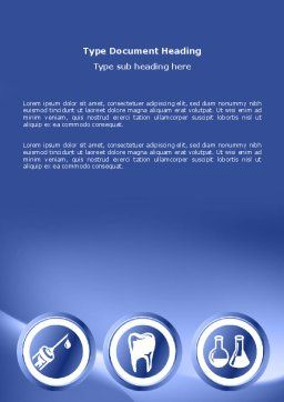 Dentist Clinic Word Template, Cover Page, 03111, Medical — PoweredTemplate.com