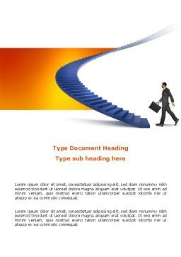 Career Rising Word Template Cover Page