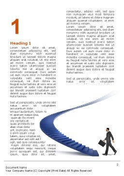 Career Rising Word Template First Inner Page