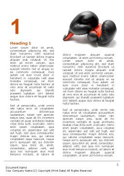 Boxing Gloves Word Template, First Inner Page, 03113, Sports — PoweredTemplate.com