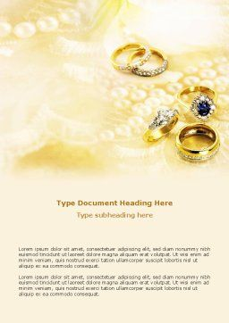 Precious Rings Word Template, Cover Page, 03116, Careers/Industry — PoweredTemplate.com
