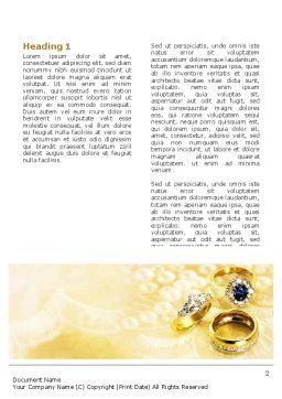 Precious Rings Word Template, First Inner Page, 03116, Careers/Industry — PoweredTemplate.com