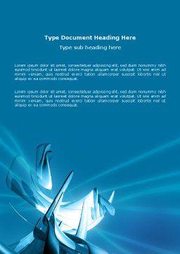 Futuristic Blue Word Template, Cover Page, 03118, 3D — PoweredTemplate.com