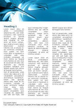 Futuristic Blue Word Template, First Inner Page, 03118, 3D — PoweredTemplate.com