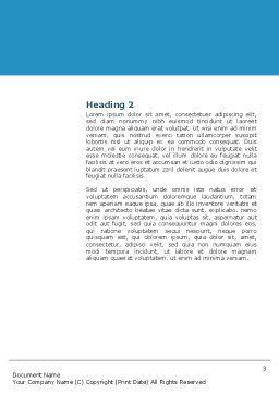 Futuristic Blue Word Template, Second Inner Page, 03118, 3D — PoweredTemplate.com