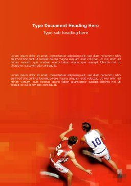 Free Sport Game Word Template, Cover Page, 03120, Sports — PoweredTemplate.com