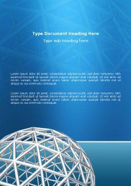 Framework Sphere Word Template, Cover Page, 03123, Construction — PoweredTemplate.com