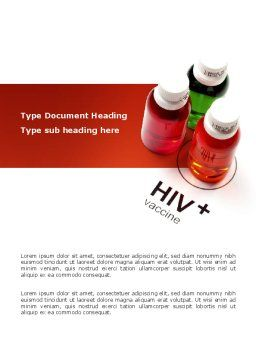 HIV Vaccine Word Template, Cover Page, 03125, Medical — PoweredTemplate.com