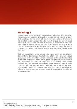 HIV Vaccine Word Template, Second Inner Page, 03125, Medical — PoweredTemplate.com