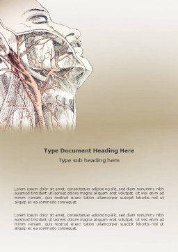 Craniofacial Anatomy Word Template, Cover Page, 03127, Medical — PoweredTemplate.com