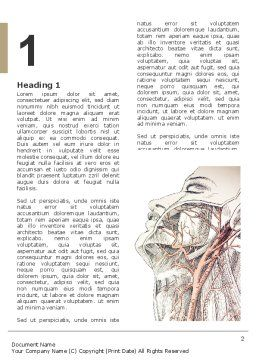 Craniofacial Anatomy Word Template, First Inner Page, 03127, Medical — PoweredTemplate.com