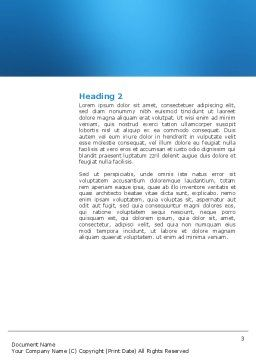 Emergency Word Template, Second Inner Page, 03129, Medical — PoweredTemplate.com