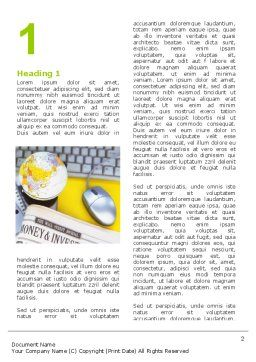 Business World Newspaper Word Template First Inner Page