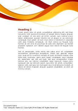 Young Team Work Word Template Second Inner Page