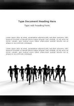 Revolution Word Template, Cover Page, 03136, 3D — PoweredTemplate.com
