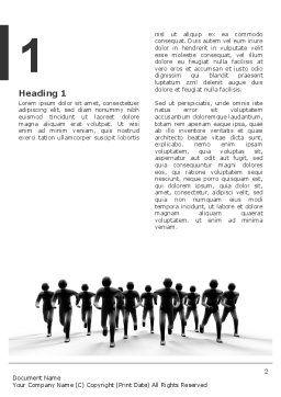 Revolution Word Template, First Inner Page, 03136, 3D — PoweredTemplate.com