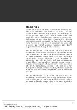Revolution Word Template, Second Inner Page, 03136, 3D — PoweredTemplate.com