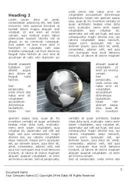Globe Of Steel Word Template, First Inner Page, 03141, Global — PoweredTemplate.com
