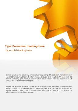 Orange String Word Template, Cover Page, 03142, Abstract/Textures — PoweredTemplate.com