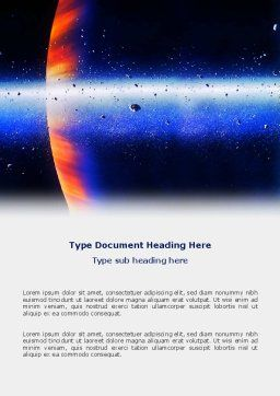 Planetoid Rings Word Template, Cover Page, 03144, Nature & Environment — PoweredTemplate.com