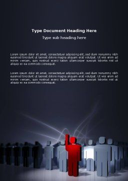 Expressing Opinion Word Template, Cover Page, 03145, Consulting — PoweredTemplate.com
