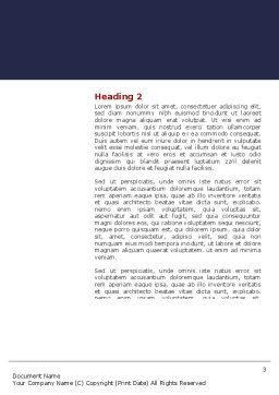 Expressing Opinion Word Template, Second Inner Page, 03145, Consulting — PoweredTemplate.com