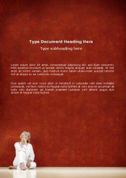 Lady In White Word Template, Cover Page, 03149, People — PoweredTemplate.com