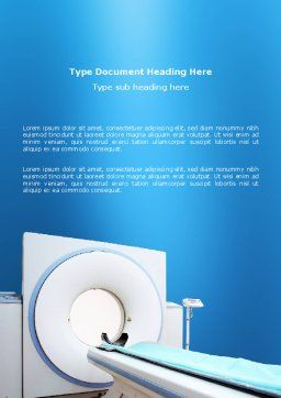 Tomography Machine Word Template, Cover Page, 03151, Medical — PoweredTemplate.com