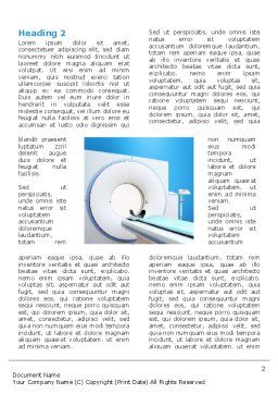 Tomography Machine Word Template, First Inner Page, 03151, Medical — PoweredTemplate.com