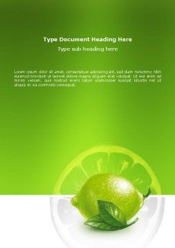 Green Lemon Word Template Cover Page
