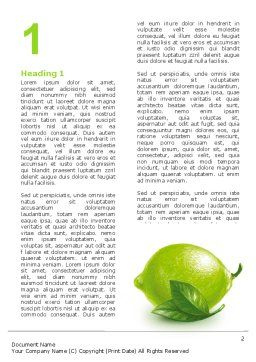 Green Lemon Word Template, First Inner Page, 03153, Agriculture and Animals — PoweredTemplate.com