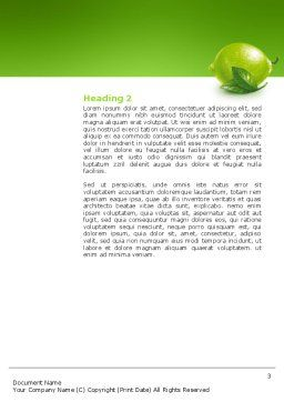 Green Lemon Word Template, Second Inner Page, 03153, Agriculture and Animals — PoweredTemplate.com