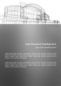 Building Design Word Template, Cover Page, 03154, Construction — PoweredTemplate.com