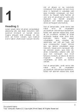 Building Design Word Template, First Inner Page, 03154, Construction — PoweredTemplate.com