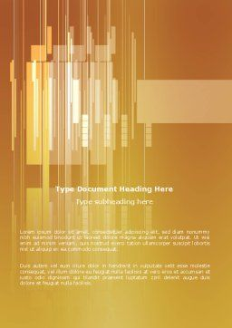 Geometry Word Template, Cover Page, 03155, Abstract/Textures — PoweredTemplate.com