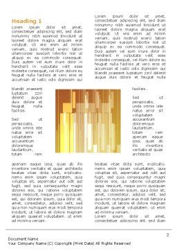 Geometry Word Template, First Inner Page, 03155, Abstract/Textures — PoweredTemplate.com
