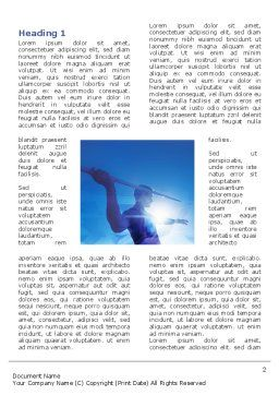 Javelin Throwing Word Template, First Inner Page, 03157, Sports — PoweredTemplate.com