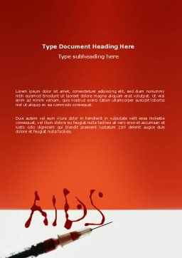 Acquired Immunodeficiency Syndrome Word Template, Cover Page, 03158, Medical — PoweredTemplate.com