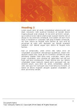Wide World Business Word Template, Second Inner Page, 03159, Global — PoweredTemplate.com