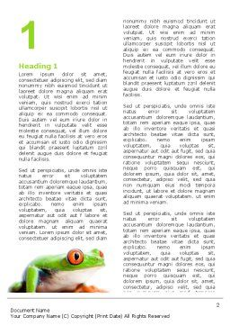 Tropical Green Frog Word Template, First Inner Page, 03160, Agriculture and Animals — PoweredTemplate.com