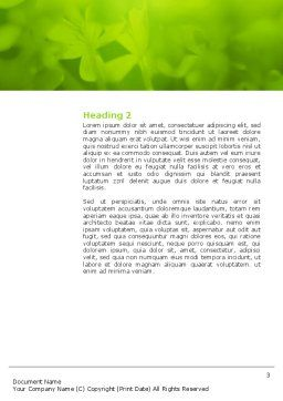 Tropical Green Frog Word Template, Second Inner Page, 03160, Agriculture and Animals — PoweredTemplate.com