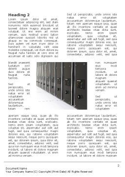 Server Room Word Template, First Inner Page, 03161, Technology, Science & Computers — PoweredTemplate.com