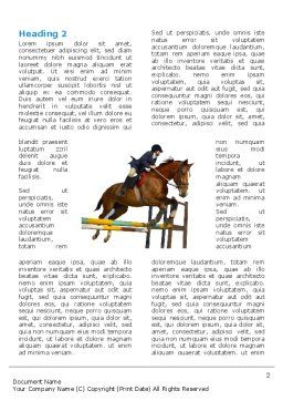 Steeplechase Word Template, First Inner Page, 03162, Sports — PoweredTemplate.com