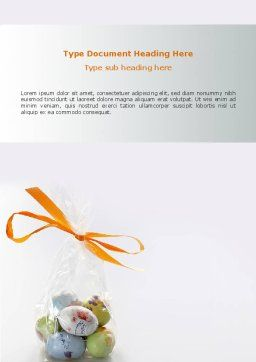 Easter Present Word Template, Cover Page, 03163, Holiday/Special Occasion — PoweredTemplate.com