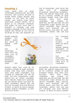 Easter Present Word Template, First Inner Page, 03163, Holiday/Special Occasion — PoweredTemplate.com
