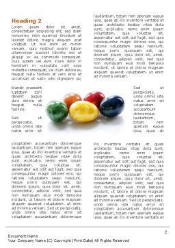 Colored Easter Eggs Word Template, First Inner Page, 03164, Holiday/Special Occasion — PoweredTemplate.com